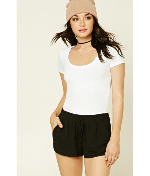 Imbracaminte Femei Forever21 Scoop Neck Crop Top White