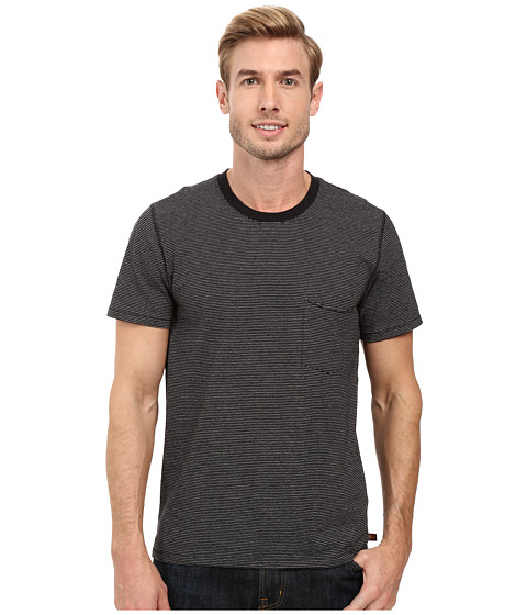 Imbracaminte Barbati 7 For All Mankind Short Sleeve Stripe Ringer Tee Black Ecru Feeder Stripe