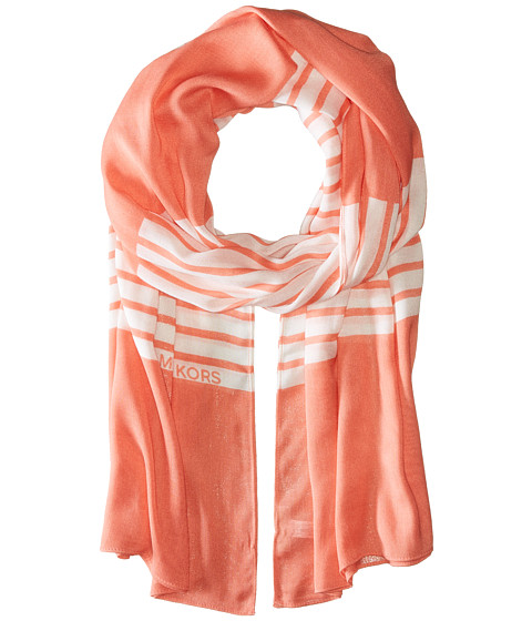 Accesorii Femei Michael Kors Norwood Stripe Oblong Caribbean PinkWhite