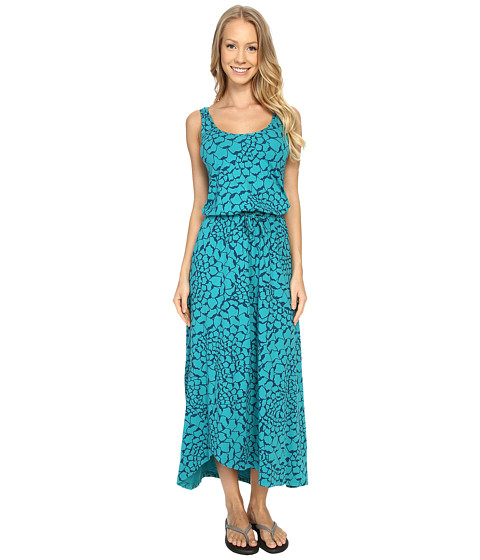 Imbracaminte Femei The North Face On The Go Maxi Dress Teal Blue Organic Tonal Print (Prior Season)