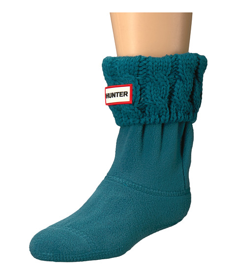 Imbracaminte Fete Hunter Original Kids Half-Cardigan 6 Stitch Cable Boot Socks (ToddlerLittle KidBig Kid) Horizon