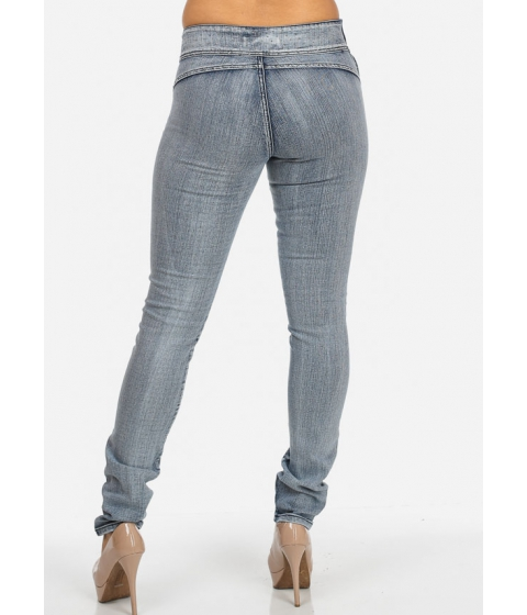 Imbracaminte Femei CheapChic High Waisted Jeans with Side Zipper Multicolor