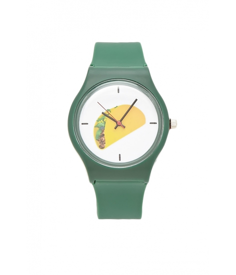 Bijuterii Femei Forever21 Taco Graphic Analog Watch Green