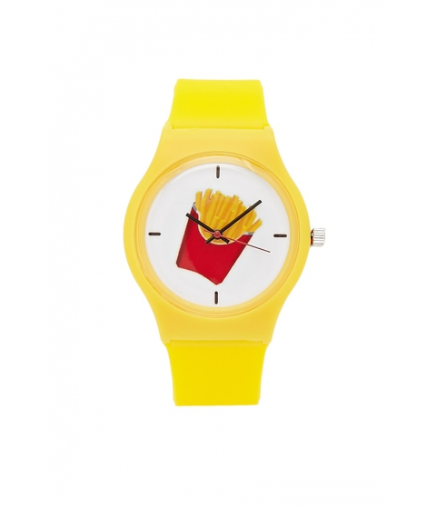 Bijuterii Femei Forever21 Fries Graphic Analog Watch Yellow