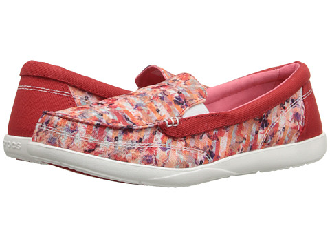 Incaltaminte Femei Crocs Walu II Striped Floral Loafer MultiWhite