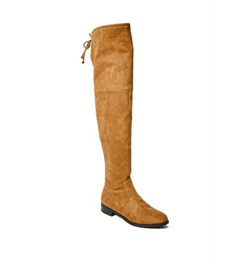 Incaltaminte Femei GUESS Simplee Over-The-Knee Boots medium brown fabric