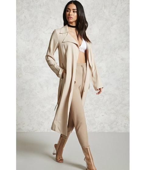 Imbracaminte Femei Forever21 Contemporary Longline Jacket Beige