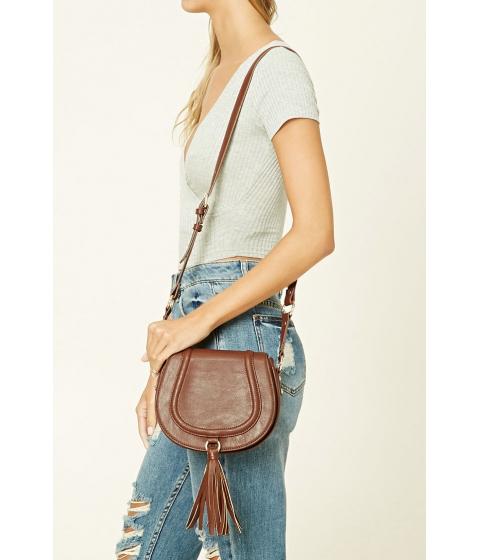 Imbracaminte Femei Forever21 Faux Leather Tassel Crossbody Brown
