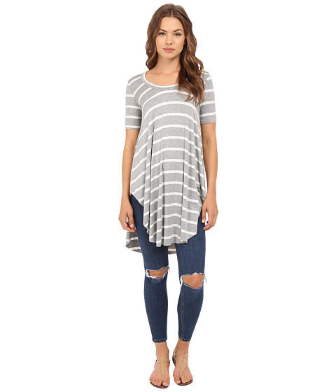 Imbracaminte Femei Culture Phit Ashby Short Sleeve Striped Top GreyWhite