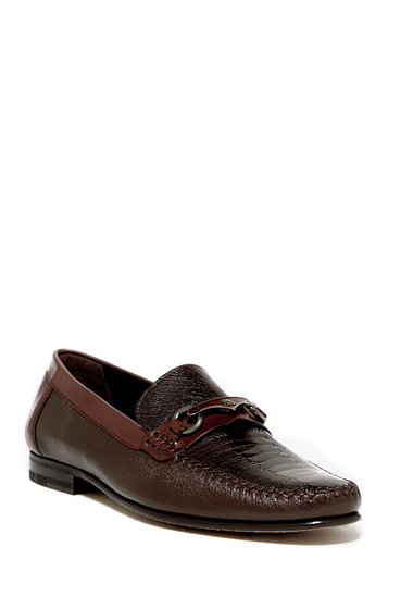 Incaltaminte Barbati Mezlan Genuine Ostrich Bit Loafer BROWN