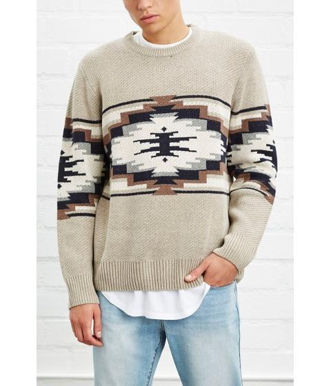 Imbracaminte Barbati Forever21 Southwestern Pattern Sweater Taupeblack