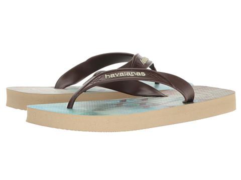 Incaltaminte Barbati Havaianas Surf Flip Flops Sand GreyDark Brown