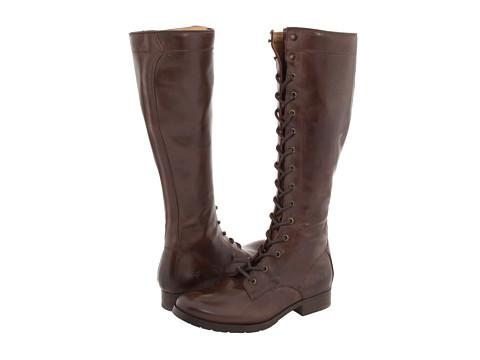 Incaltaminte Femei Frye Melissa Tall Lace Dark Brown Leather
