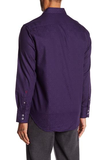 Imbracaminte Barbati Robert Graham Windsor Long Sleeve Woven Classic Fit Shirt BERRY