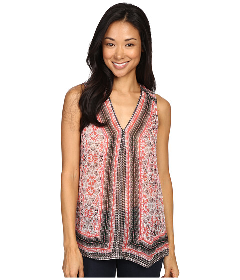 Imbracaminte Femei Lucky Brand Printed Border Tank Top Red Multi