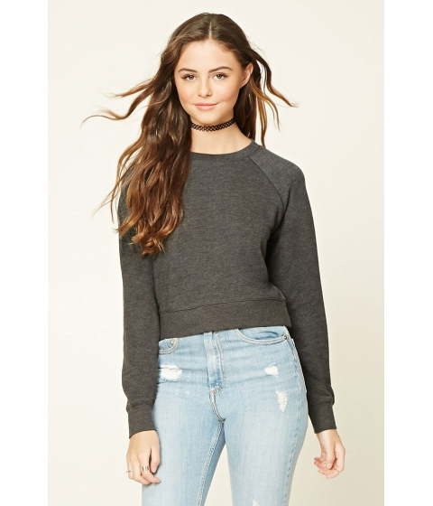 Imbracaminte Femei Forever21 French Terry Knit Pullover Charcoal