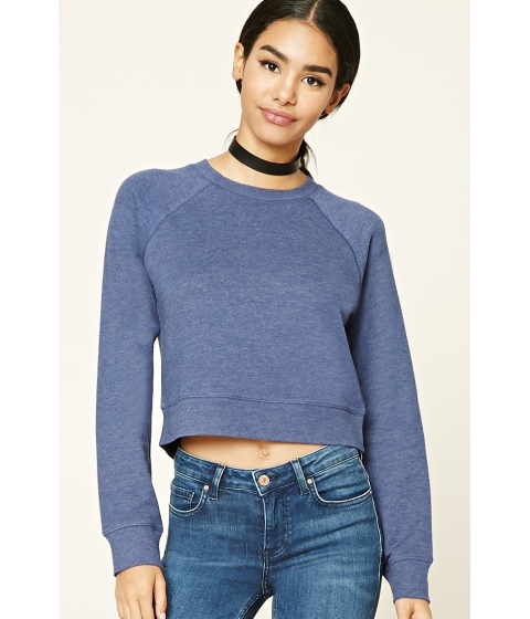 Imbracaminte Femei Forever21 French Terry Knit Pullover Navy