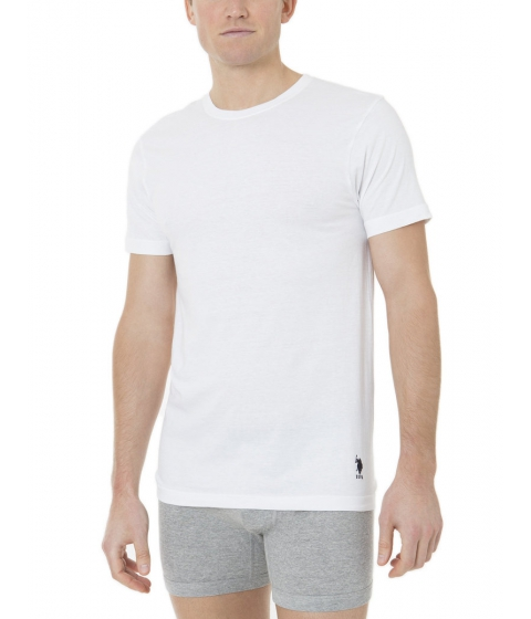 Imbracaminte Barbati US Polo Assn 3 Pack Crew Tee- Cotton Jersey White