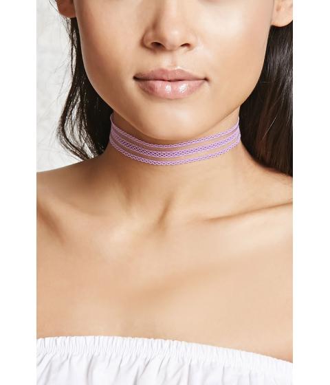 Bijuterii Femei Forever21 Crochet Choker Lavender
