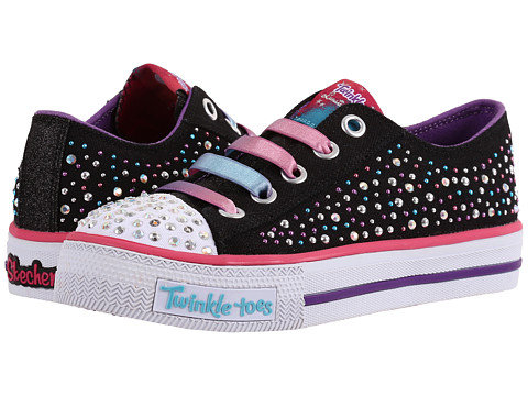 Incaltaminte Fete SKECHERS Shuffles - 10627L Lights (Little KidBig Kid) BlackMulti