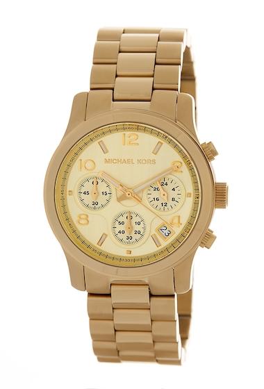 Ceasuri Femei MICHAEL Michael Kors Womens Gold-Tone Chronograph Watch 38mm GOLD