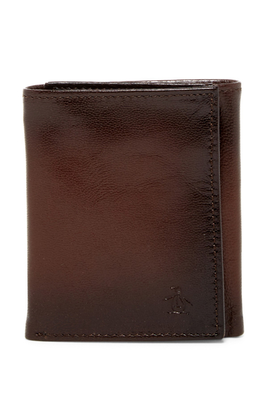 Accesorii Barbati Original Penguin Michigan Slim Tri-Fold Wallet BROWN