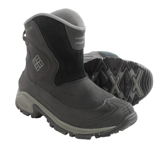 Incaltaminte Barbati Columbia Bugaboot Slip-On Snow Boots - Waterproof Insulated BLACKCHARCOAL (01)