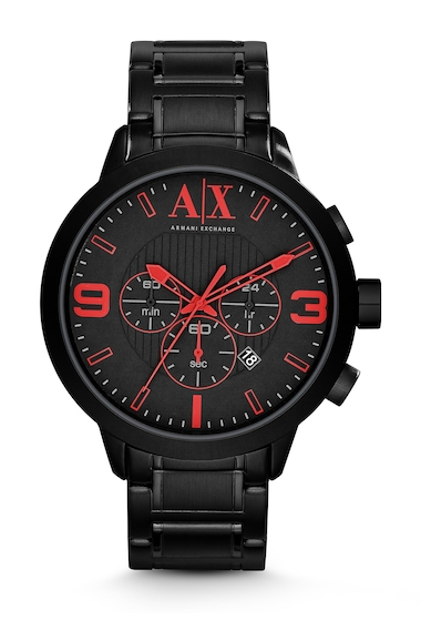 Ceasuri Barbati Armani Exchange Mens Classic Round Ion-Plated Bracelet Watch BLACK IP- POPS OF COLOR