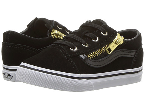 Incaltaminte Fete Vans Old Skool Zip (Toddler) (Suede) BlackGold
