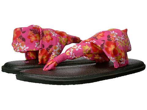Incaltaminte Fete Sanuk Yoga Sling Burst Prints (Little KidBig Kid) Paradise Pink Waikiki Floral