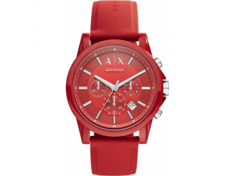 Ceasuri Barbati Armani Exchange Red Dial Chronograph Men's Watch Red