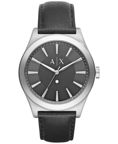 Ceasuri Barbati Armani Exchange Smart Men's Diamond Watch Black