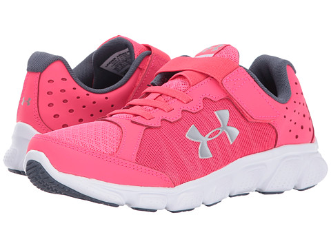 Incaltaminte Fete Under Armour UA GPS Assert 6 AC (Little Kid) Penta PinkWhiteSilver Metallic Silver