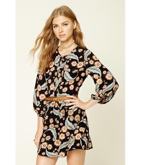 Imbracaminte Femei Forever21 Pleated Floral Print Dress Blacksalmon