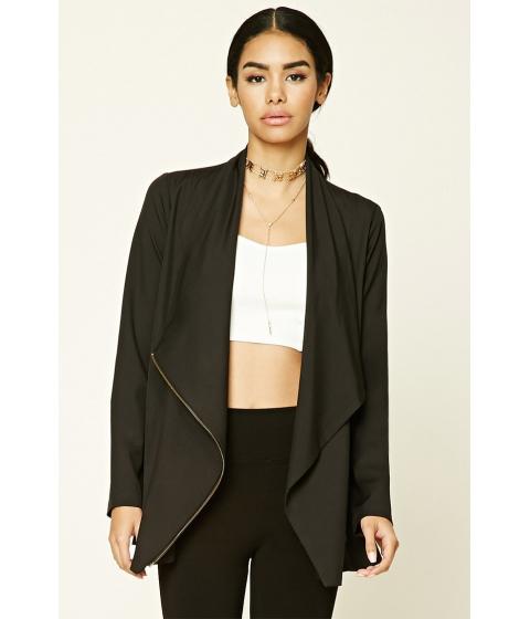Imbracaminte Femei Forever21 Asymmetrical Cowl Neck Jacket Black
