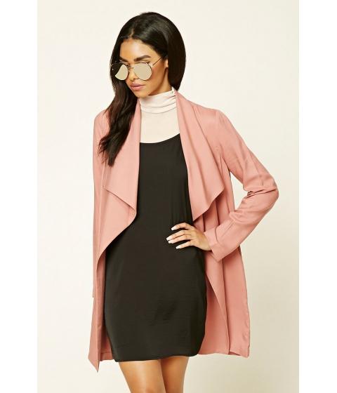 Imbracaminte Femei Forever21 Drape-Front Longline Jacket Mauve