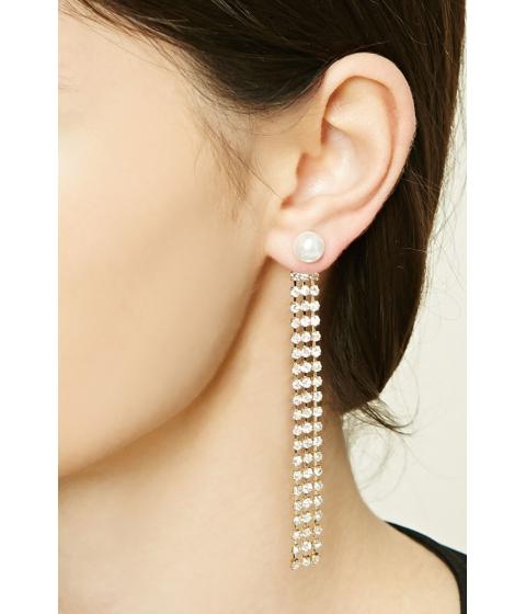 Bijuterii Femei Forever21 Rhinestone Duster Earrings Goldcream