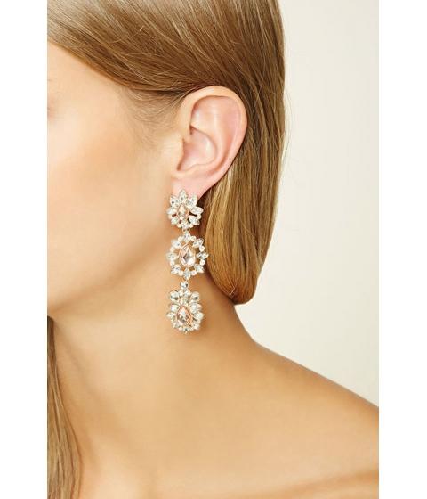 Bijuterii Femei Forever21 Ornate Faux Gem Drop Earrings Goldpeach