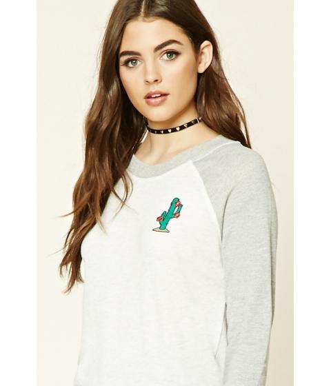 Imbracaminte Femei Forever21 Cactus Graphic Sweatshirt Greyheather grey