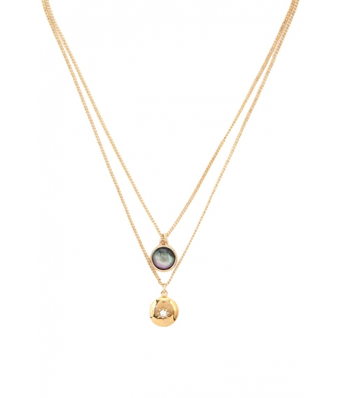Bijuterii Femei Forever21 Layered Round Pendant Necklace Gold