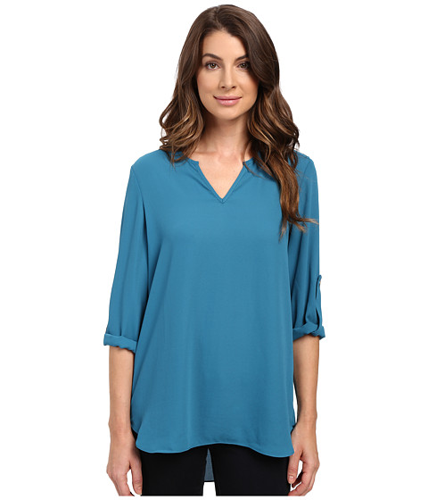 Imbracaminte Femei Karen Kane Roll Tab Shirttail Top Baltic Blue