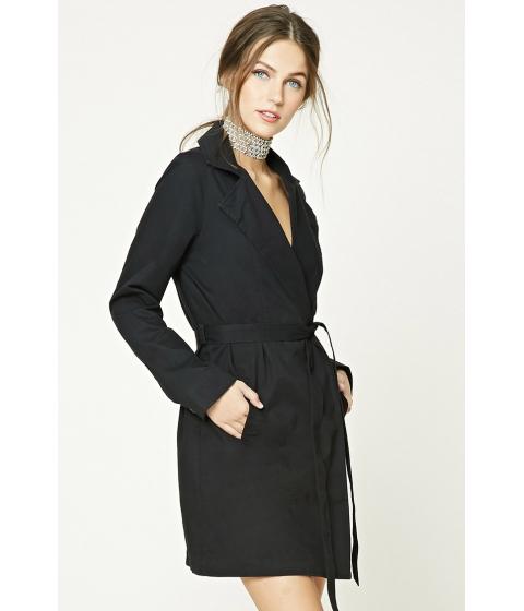 Imbracaminte Femei Forever21 Belted Wrap Jacket Black