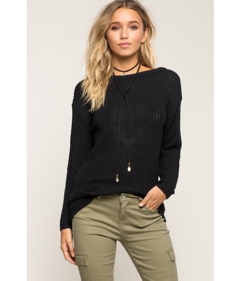 Imbracaminte Femei CheapChic Deep V Open Back Sweater Black