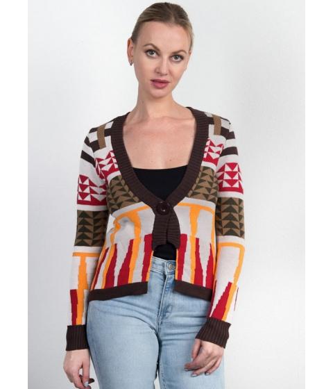 Imbracaminte Femei CheapChic One Button Sweater Cardigan Multicolor