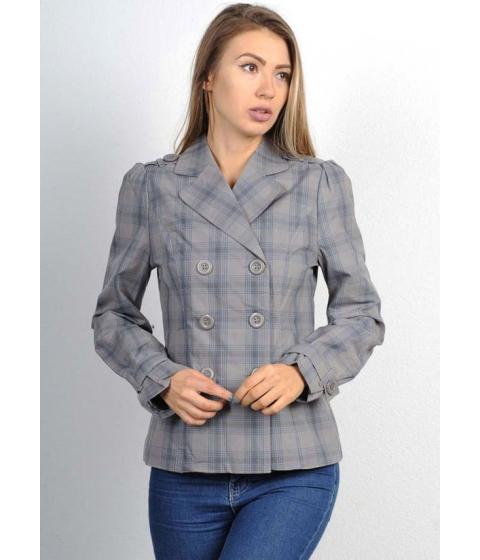 Imbracaminte Femei CheapChic Grey Plaid Cotton Trench Coat Multicolor