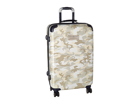 Genti Femei Tommy Hilfiger East Coast Camo 24quot Upright Suitcase White
