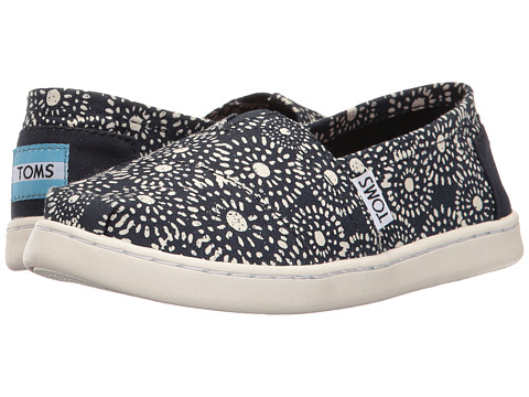 Incaltaminte Fete TOMS Seasonal Classics (Little KidBig Kid) Navy Shibori Dots