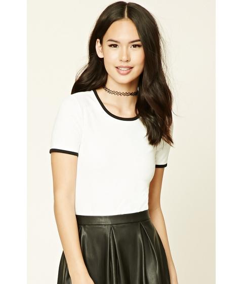 Imbracaminte Femei Forever21 Slub Knit Ringer Bodysuit Creamblack