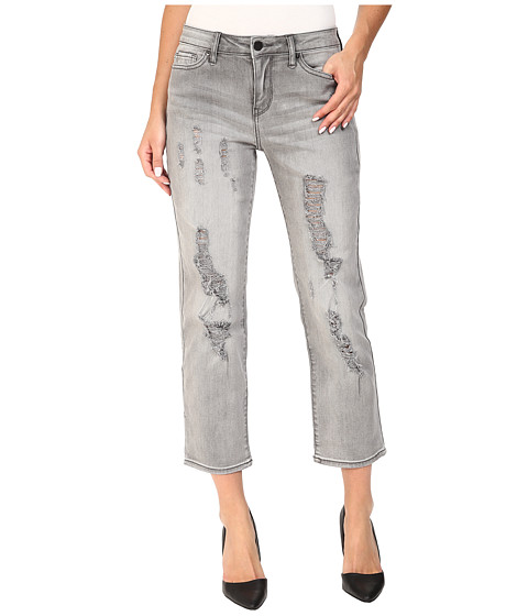 Imbracaminte Femei Calvin Klein Destroyed Crop Straight Jeans in Grey Fog Grey Fog