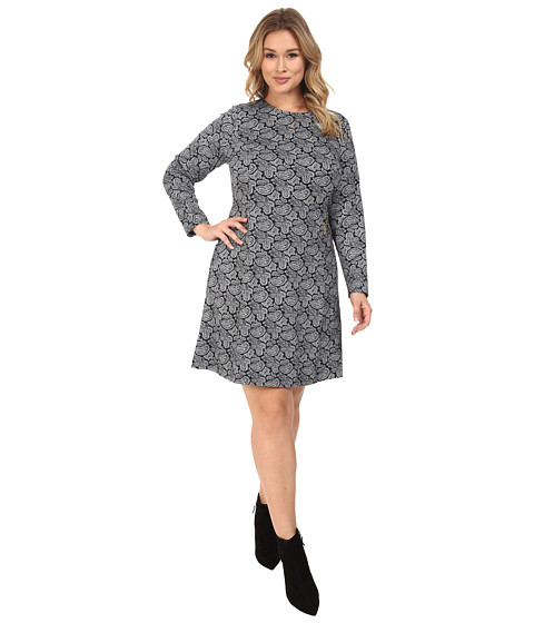 Imbracaminte Femei Michael Kors Plus Size Woodbrook Zip Seam Flare Dress New Navy